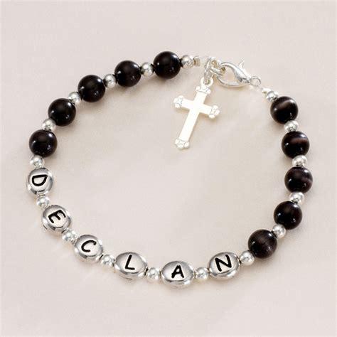 Boys Personalised Communion Bracelet   Jewels 4 Girls