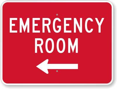 L Emergency emergency room sign with left arrow sku k 8904 l