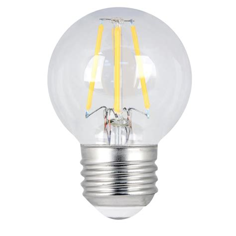 Clear Led Light Bulbs Feit Electric 60w Equivalent Soft White G16 5 Dimmable Clear Filament Led Medium Base Light Bulb