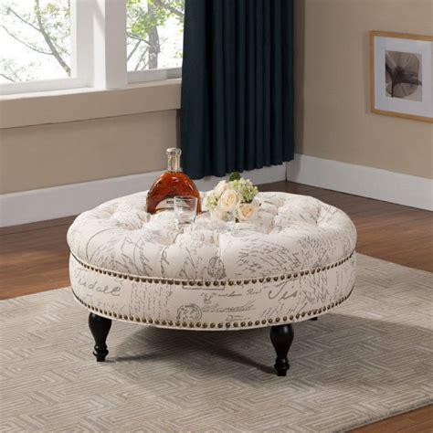 Furniture Coffee Table Round Fabric Ottoman Coffee Table Fabric Coffee Table