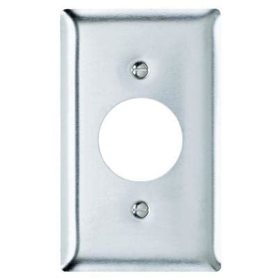 Stainless Steel Plate Home Depot by Pass Seymour 1 1 Receptacle Wall Plate Stainless
