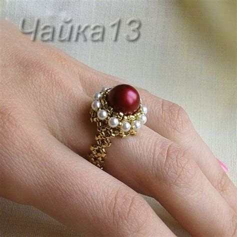 beaded rings tutorial beaded ring russian master class picture tute seed