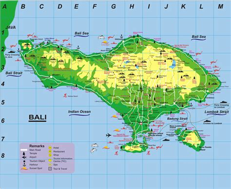 map  bali indonesia baliwallcom bali map