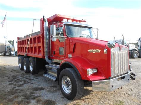used 2008 kenworth t800 tri axle dump truck for sale in ms