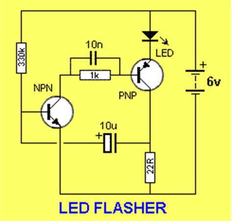 bc547 transistor led electronic hobby circuits led flasher from bc547