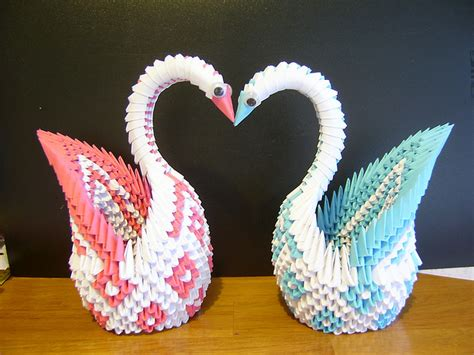 How To Make An Origami 3d Swan - origami maniacs 3d origami patterned swan