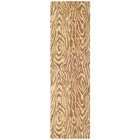 faux bois rug layered faux bois sequoia 2 ft 3 in x 8 ft rug runnermartha stewart living 202064371