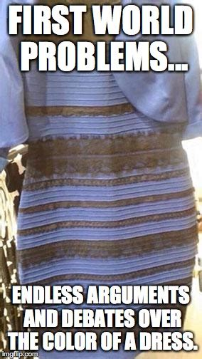Meme Dress - blue and black or white and gold imgflip
