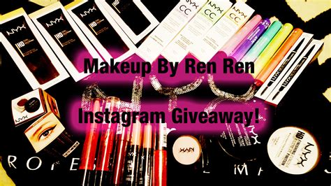 Instagram Comment Giveaway - nyx instagram giveaway makeup by renren