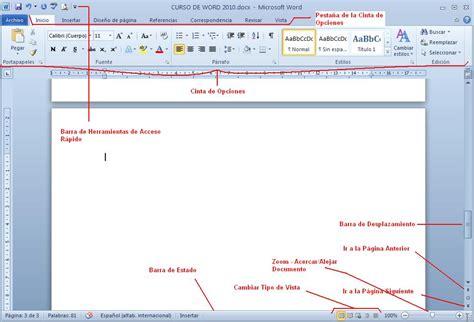 barra superior word actualidades pc informatica curso de word 2010 parte 1