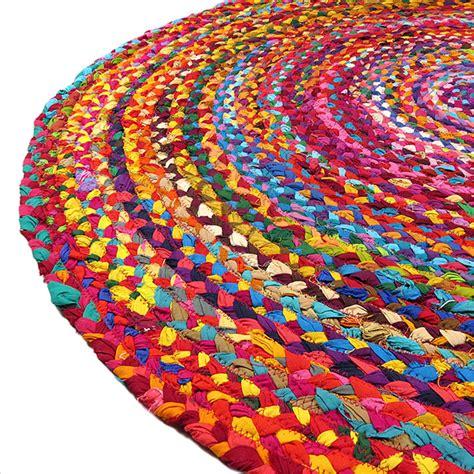 indian rag rug 4 ft colorful woven chindi braided area decorative rag rug indian bohemian ebay