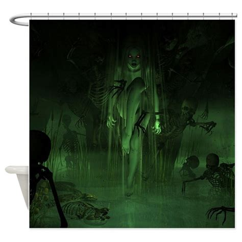 spooky curtains spooky shower curtain by simpleshopping