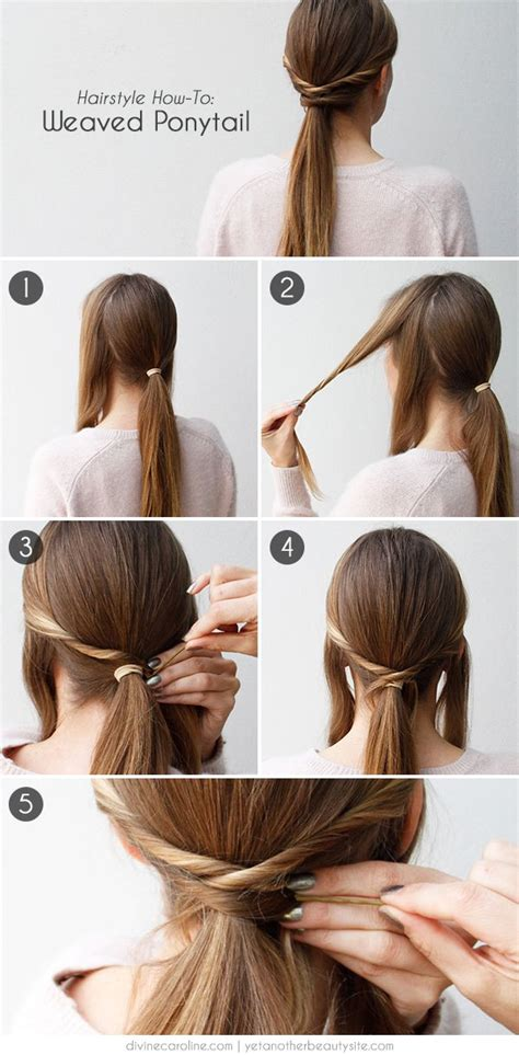 how to tie a twisted pony tail step by step 13 fast diy hairstyle tutorials for everyday use