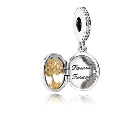 Pandora 14k Gold And Silver Family Dangle Charm P 390 family roots dangle charm clear cz pandora jewelry us