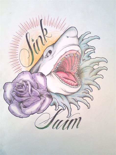 sink or swim tattoo designs sink or swim design by pulverisedfetus on deviantart