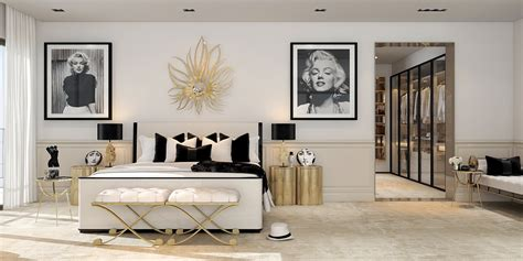 Bedroom Art Ideas a modern art deco home visualized in two styles