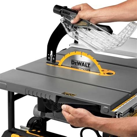 dewalt table saw dado blade dewalt dwe7491rs review portable table saw