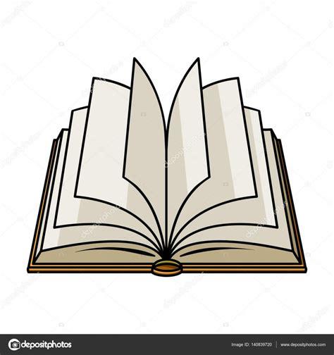 mont 243 n de libros de dibujos animados ilustraci 243 n vector libro en blanco abierto imagenes de archivo imagen 2081114