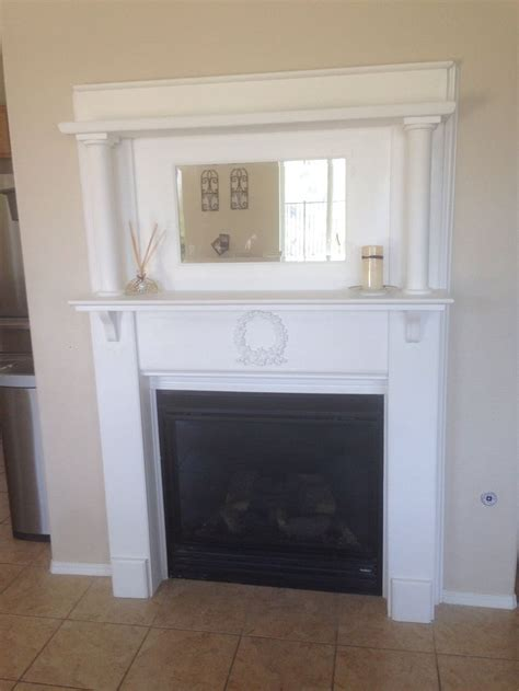 painted 1940 s fireplace mantel creations