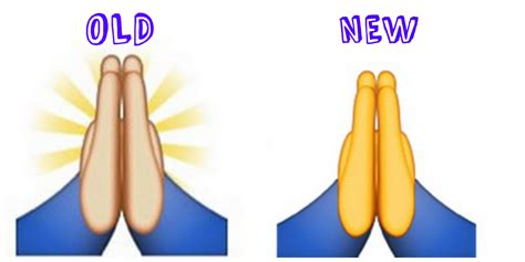 chagne emoji the prayer emoji changed in apple s 2015 ios update