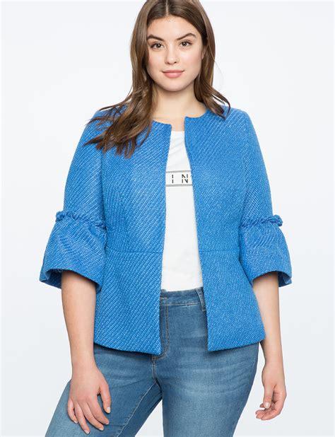 Ruffle Jacket ruffle sleeve jacket s plus size coats jackets