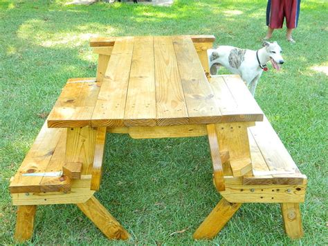 How To Make A Folding Picnic Table Bench by Access Folding Picnic Table Plans Build By Own