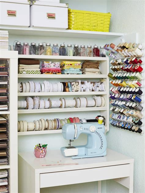 craft room craft and sewing room storage and organization hgtv