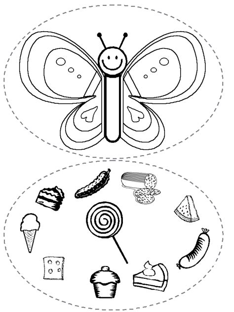 free coloring pages of one very hungry caterpillar