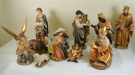 large nativity set 10 inch resin figures