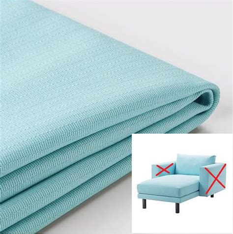 light blue covers ikea norsborg chaise section cover slipcover cover edum