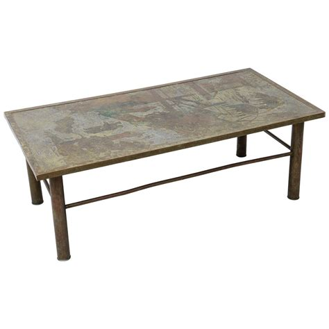 Bronze Coffee Tables Signed Laverne Bronze Coffee Table At 1stdibs