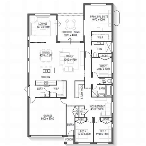 floor plan friday 4 bedroom with rumpus off kids rooms 25 best images about house floor plan on pinterest 2nd