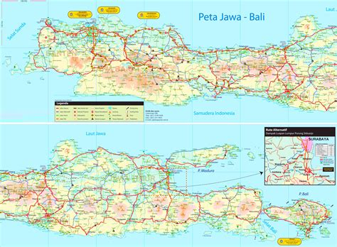 large detailed tourist map  java