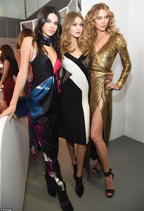 meet the male model kendall jenner and gigi hadid kendall gigi and karlie strike poses together at dvf