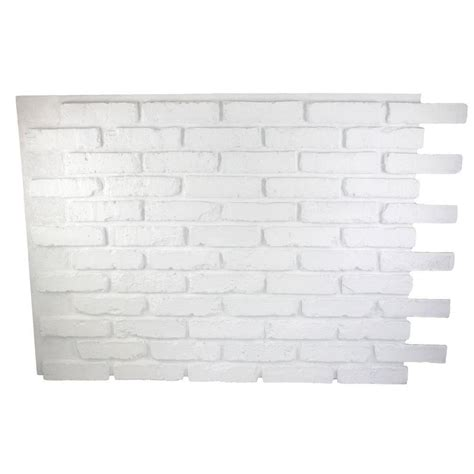 superior building supplies dove white 32 in x 47 in x 3 4 in faux reclaimed brick panel hd