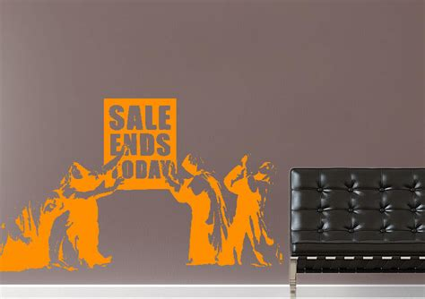 wall stickers sale sale ends today banksy wall stickers adhesive wall sticker
