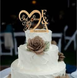 customized wedding cake toppers custom personalized wedding cake topper wedding cake topper god gave me you caketopper