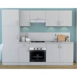 meuble de cuisine blanc colonne 2 portes dya