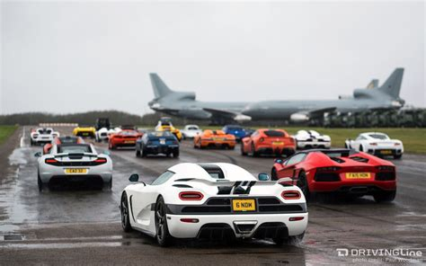 koenigsegg rain a supercar gathering full of mad dogs and englishmen