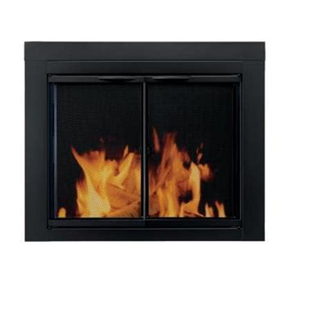 pleasant hearth alpine medium glass fireplace doors an