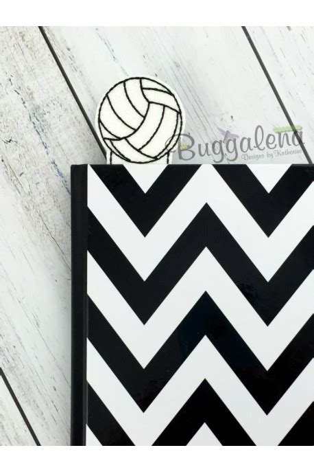 printable volleyball bookmarks volleyball bookmark embroidery design
