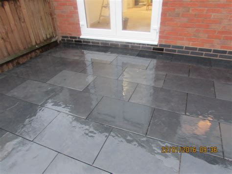 Slate For Patios Slabs by Black Slate Paving Garden Patio Slabs 10m2