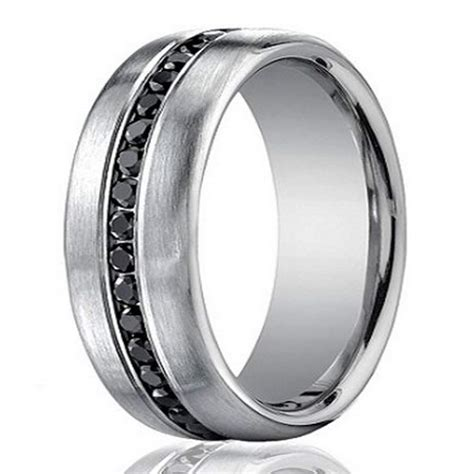 designer 14k white gold s eternity band black