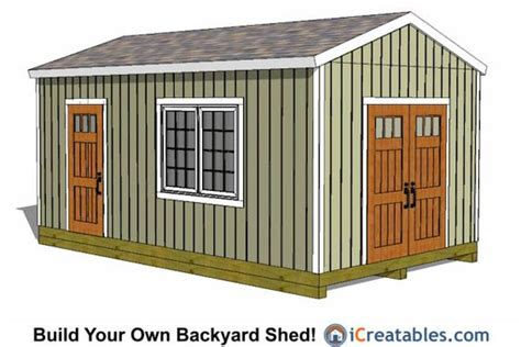 Large Storage Shed Plans