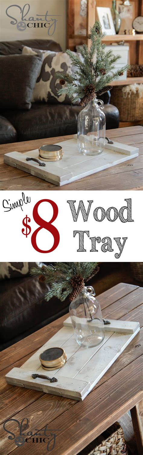 home decor gift ideas super cute and cheap diy wood coffee table tray great