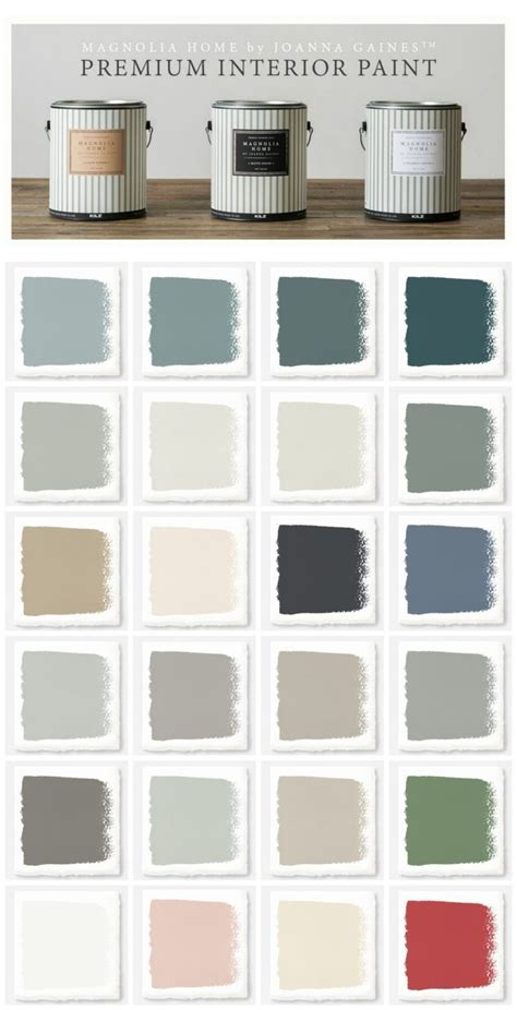 new magnolia home paint collection white shiplap paint colour charts and joanna gaines
