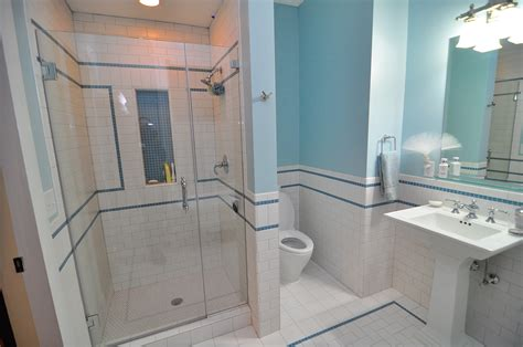 bathrooms with tile subway tile four over one design