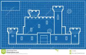 How To Make A Blueprint Castle Blueprint Stock Illustration Image 41194965