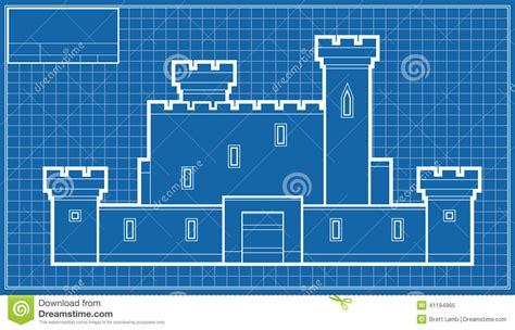 how to make a blueprint castle blueprint stock illustration illustration of castle 41194965