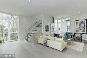 Living Room Modern Flooring Contemporary Living Room With Carpet Hardwood Floors